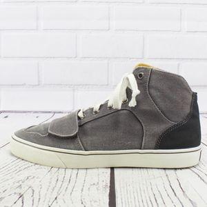 CR Creative Recreation Gray Canvas High Sneakers
